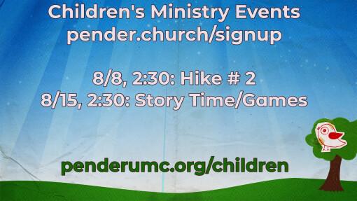 This Week at Pender August 5, 2021